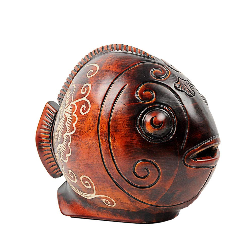 ADbox Wooden Piggy Bank Coin Storage, Money Box Fish Gifts for Children Friends, Also Ornaments for Room Decorations by ADbox