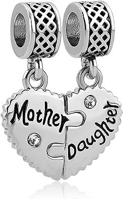 Mother Heart Charm European Bracelet