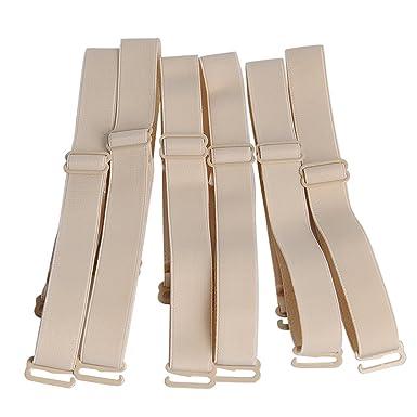 af8900832a Closecret Lingeries Accessories Ladies Elastic Adjustable Removable  Replacement Bra Shoulder Straps 12mm 15mm Width Band (Pack of 3)   Amazon.co.uk  Clothing