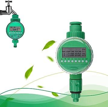 CRZJ Programador Riego Temporizador, Regulador de riego automático de riego Regulador de la válvula solenoide de riego de jardín: Amazon.es: Deportes y aire libre