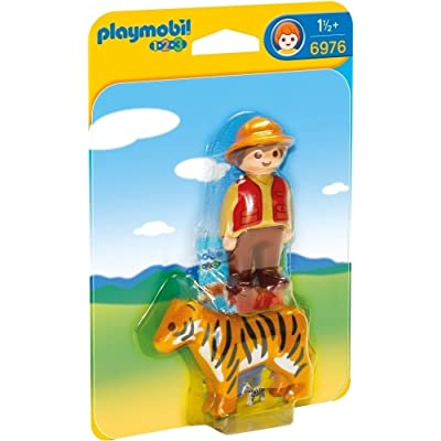 PLAYMOBIL Gamekeeper with Tiger: Toys & Games