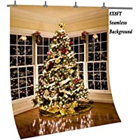 OUYIDA 8X8FT Seamless Christmas Theme Pictorial cloth photography Background Computer-Printed Vinyl Backdrop CEM02C