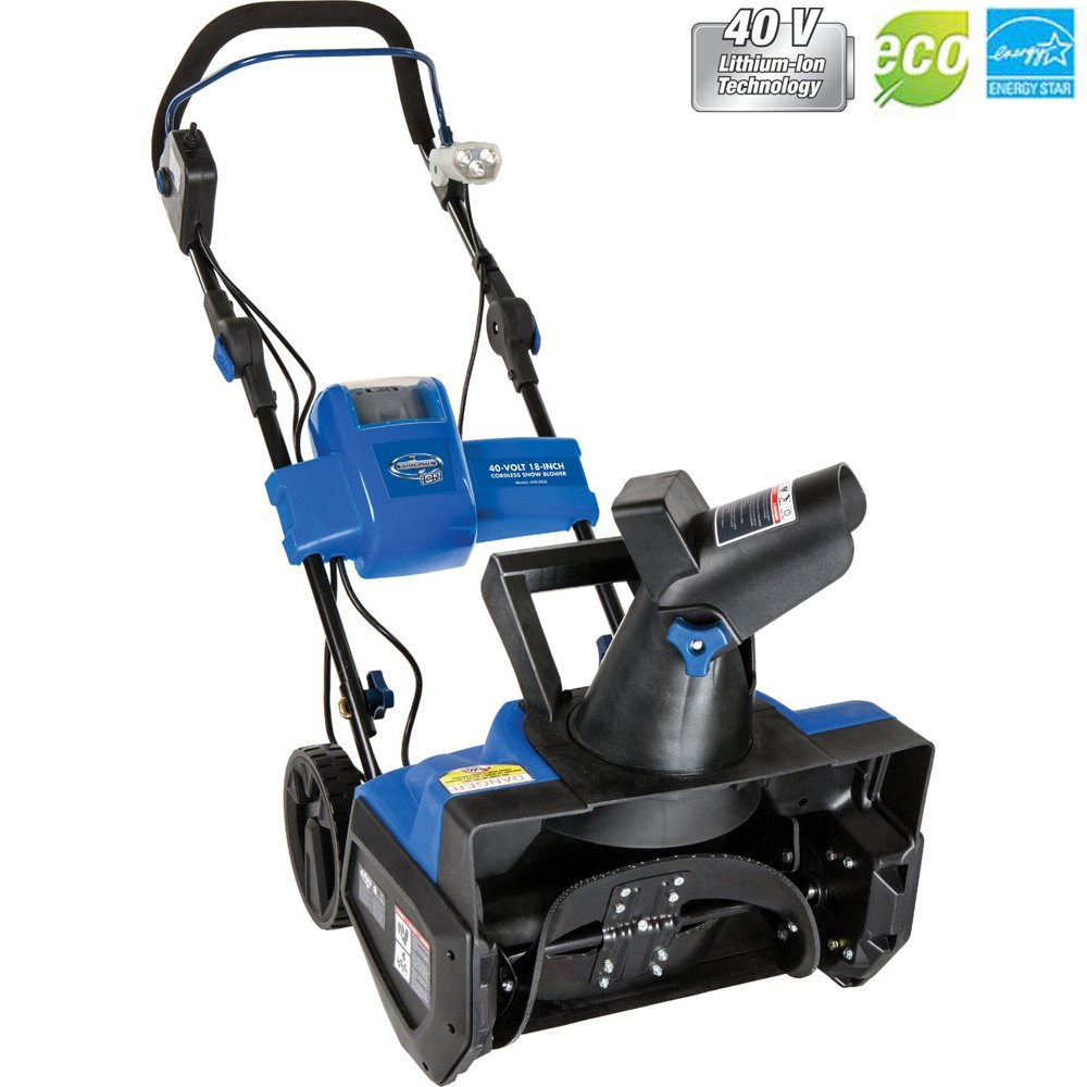 Snow Joe Ion Cordless Single Stage Snow Blower W/ Rechargeable Battery iON18SB - (Certified Refurbished)