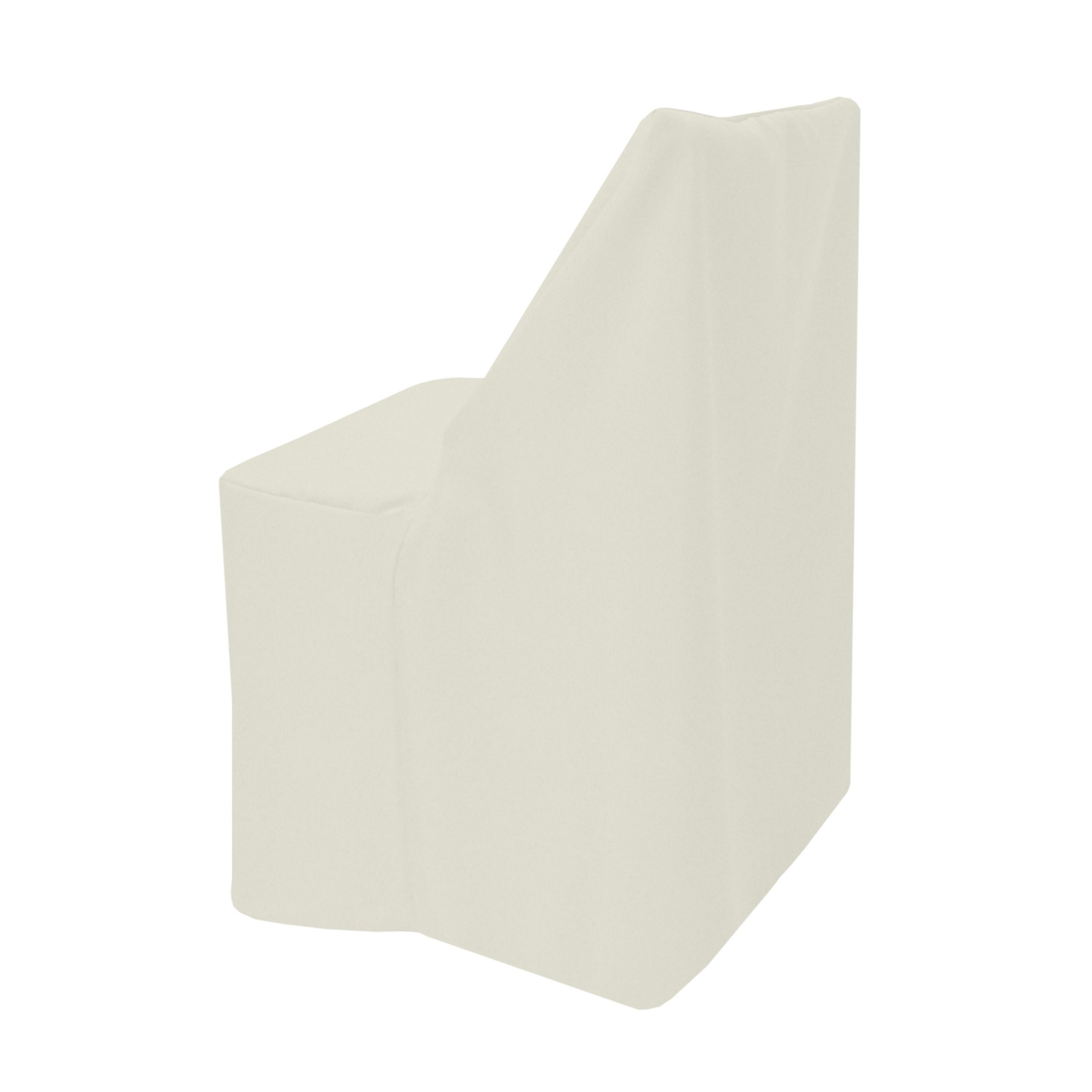 Ultimate Textile -2 Pack- Polyester Folding Chair Cover - for Wood Folding Chairs, Oyster