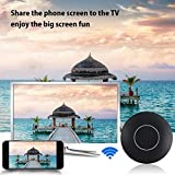 Shopline Wifi Display Dongle, Wireless HDMI 1080P Display Receiver Adapter, Transmitter with HDMI and AV Output, Supports Miracast Airplay DLNA for IOS/Android/Windows/Mac