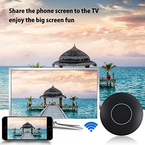 Shopline Wifi Display Dongle, Wireless HDMI 1080P Display Receiver Adapter, Bluetooth Transmitter with HDMI and AV Output, Supports Miracast Airplay DLNA for IOS / Android / Windows / Mac