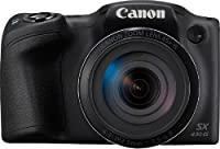 Canon PowerShot SX430 IS 20MP Digital Camera with 45x Optical Zoom (Black) + 16GB Memory Card + Camera Case
