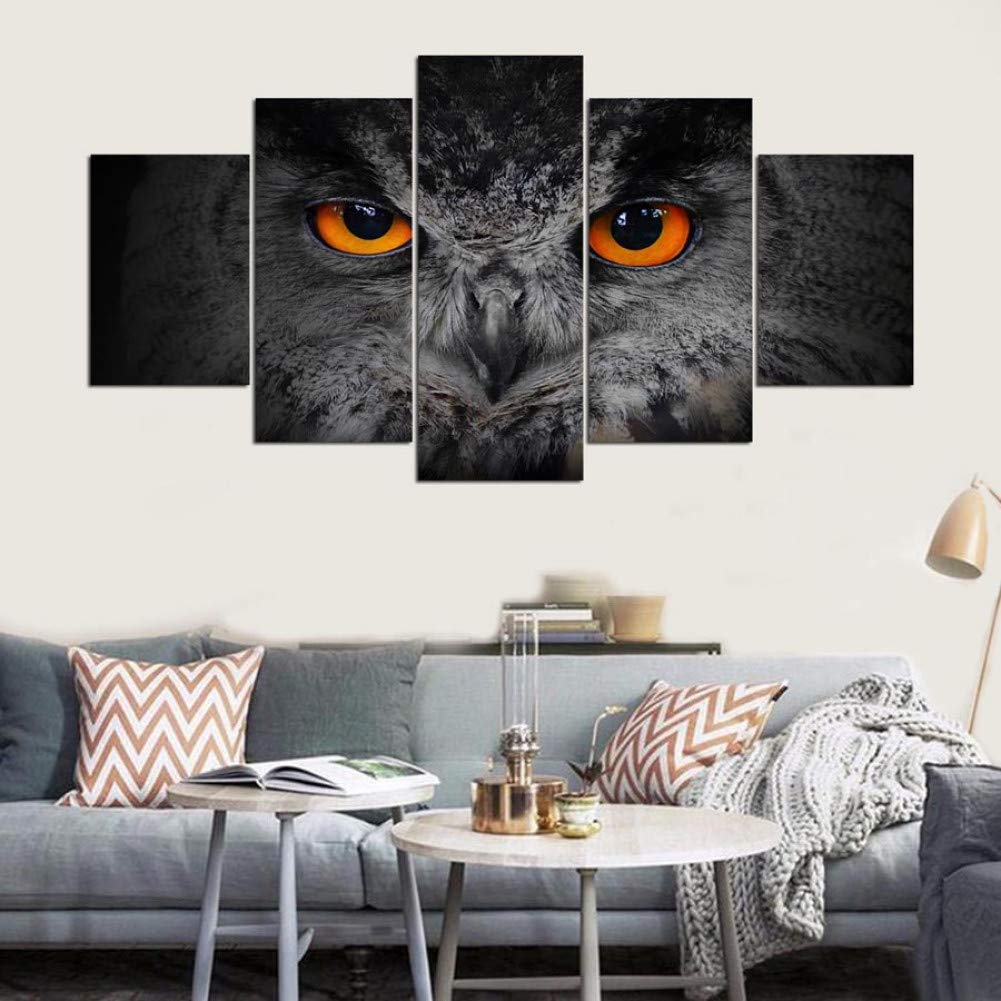salida para la venta Frame Talla KKXXWLH Cartel Grande HD Pintura Impresa 5 5 5 Panel Animal Eyes Impresión en Lienzo Arte Decoración del Hogar Arte de la Parojo Imágenes para la Sala de Estar  tienda de bajo costo