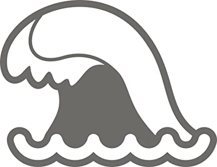 Amazon com: Cool Simple Gray Sea Ocean Wave Cartoon Emoji Vinyl