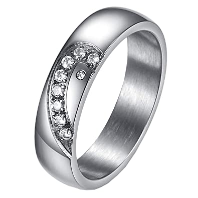 Amazon.com: Um joyas pareja amor anillos Puzzle Corazón ...