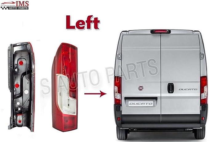 Fiat Ducato Peugeot BOXER CITRON RELAY - Lente de luz para faros delanteros (lado izquierdo) NS 2014 a 2016: Amazon.es: Coche y moto