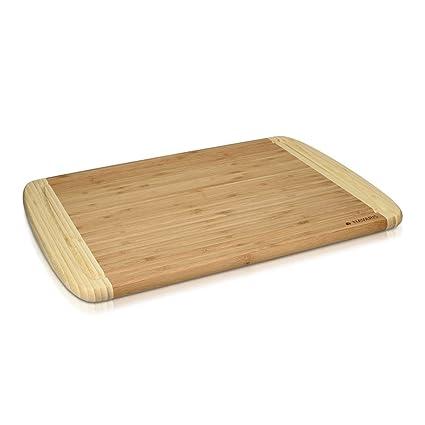 Navaris Tagliere in legno di bambù XXL - tagliere da cucina grande ...