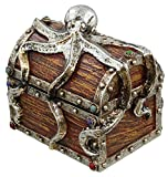 LL Home Pirate Chest Octopus Trinket Storage Mini Jewelry Box