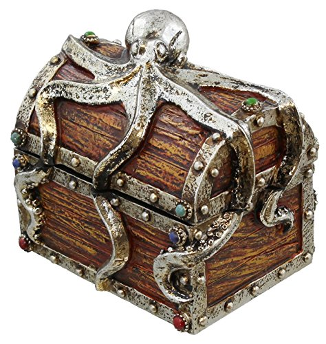 LL Home Pirate Chest Octopus Trinket Storage Mini Jewelry Box by LL Home