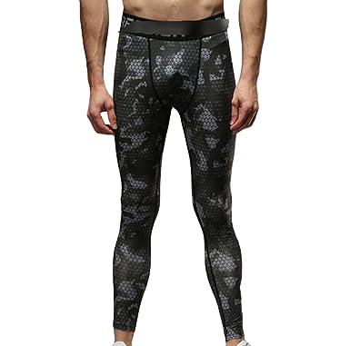 Jitong Skinny Pantalones Deportivos de Camuflaje Hombre ...
