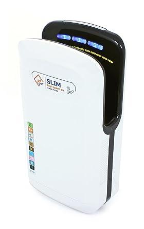 Secador de manos (Jet Dryer Slim – Rápido y potente secador de manos hecha a mano con un sistema de secar suelo – color blanco