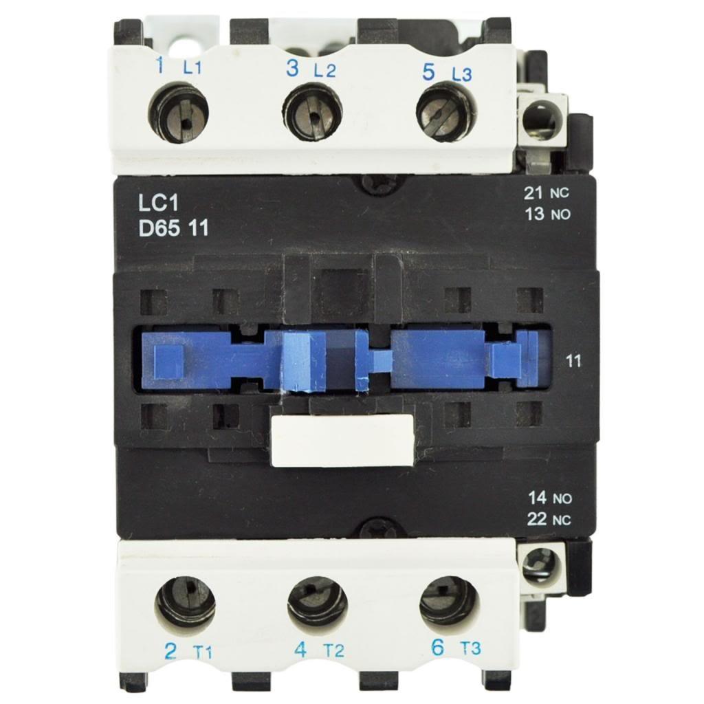 Telemecanique LC1 D6511 Contactor With 120 Volt Coil
