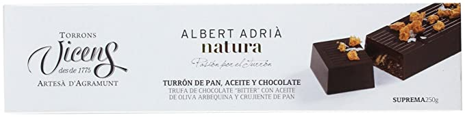 Vicens Turrón Pan, Aceite y Chocolate Adrià Natura - 250 gr