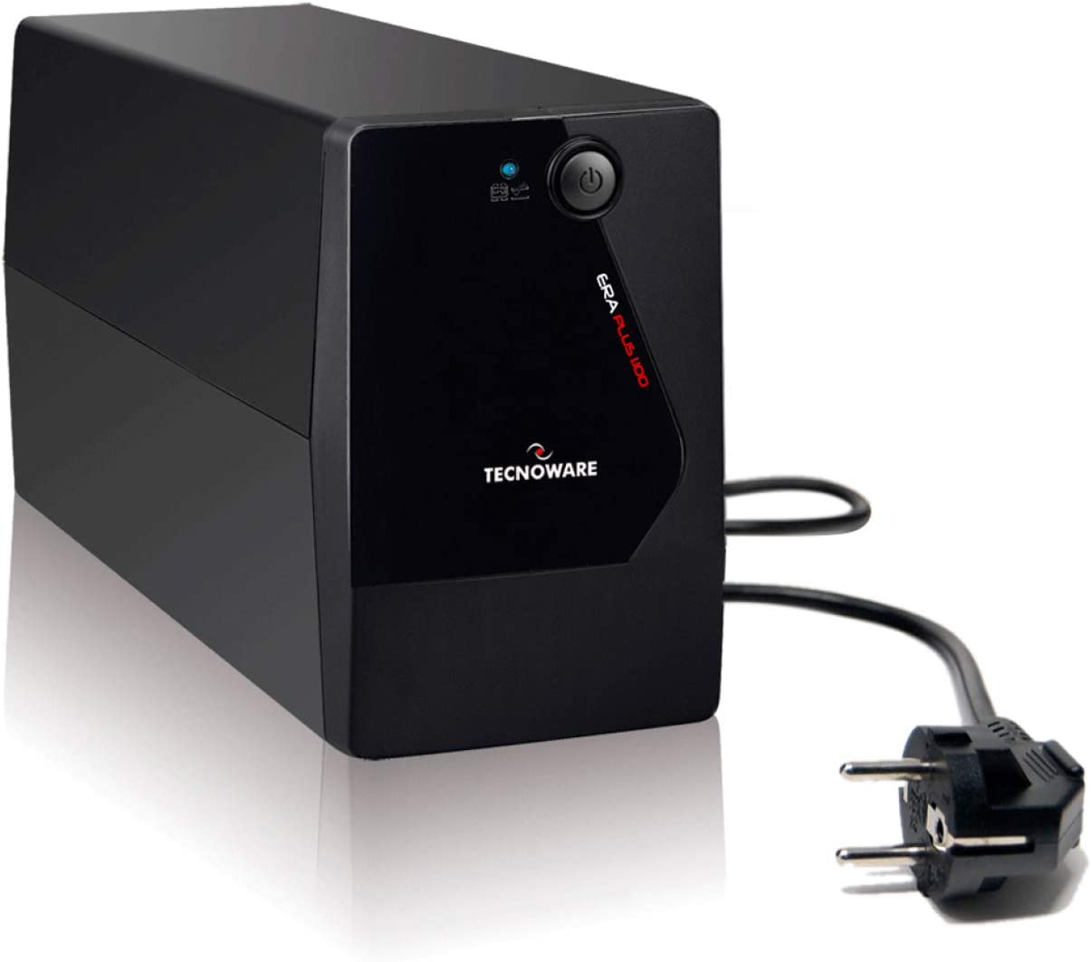 Tecnoware UPS ERA PLUS 1100 Sistemas de Alimentación Ininterrumpida - 2 salidas Schuko - Autonomía hasta 17 min with 1 PC or 60 min with Modem Router - Power 1100 VA