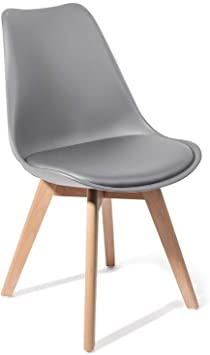 Tomasucci Kiki Evo Wood Stuhl Grau 4 Stuck Amazon De Kuche Haushalt