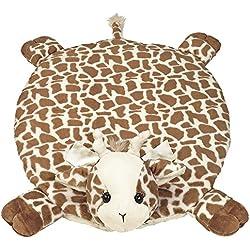 Bearington Baby Patches Belly Blanket, Giraffe Plush Stuffed Animal Tummy Time Play Mat
