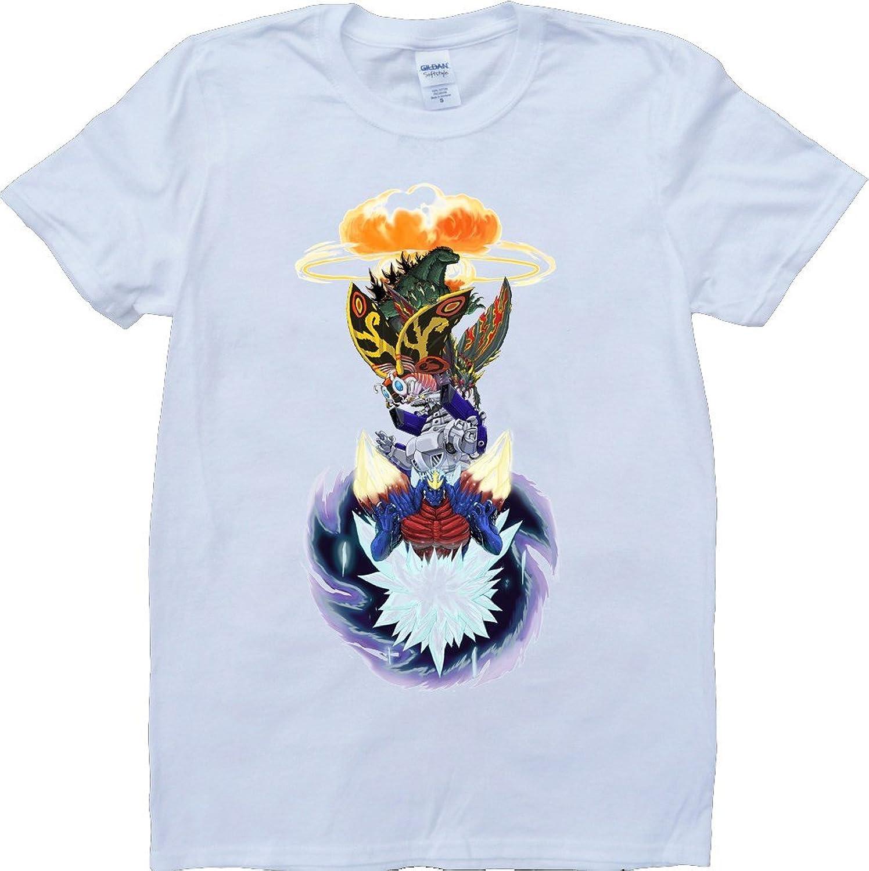 Godzilla Wars Short Sleeve Crew Neck Custom Made T-Shirt