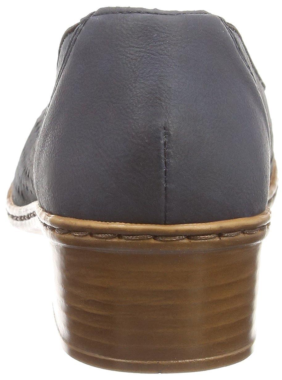 Pumps Women 48285 Size Rieker Closed Uk Women's Blue Amazon Toe 8 xXqCPCgw