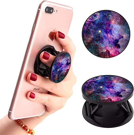 Sh-ADO-WHU-nterS Expanding Phone Socket Prop Grip for Phones and Tablets Phone Holder Finger Kickstand Adjustable Mount Holder Pop Out Phone Grip and Stand 2 PCS