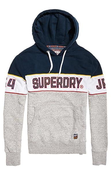 Superdry Retro Stripe Hood, Sudadera para Hombre, (3pointernvy/Opt/Streetwrksgrt Tj9) X-Small: Amazon.es: Ropa y accesorios