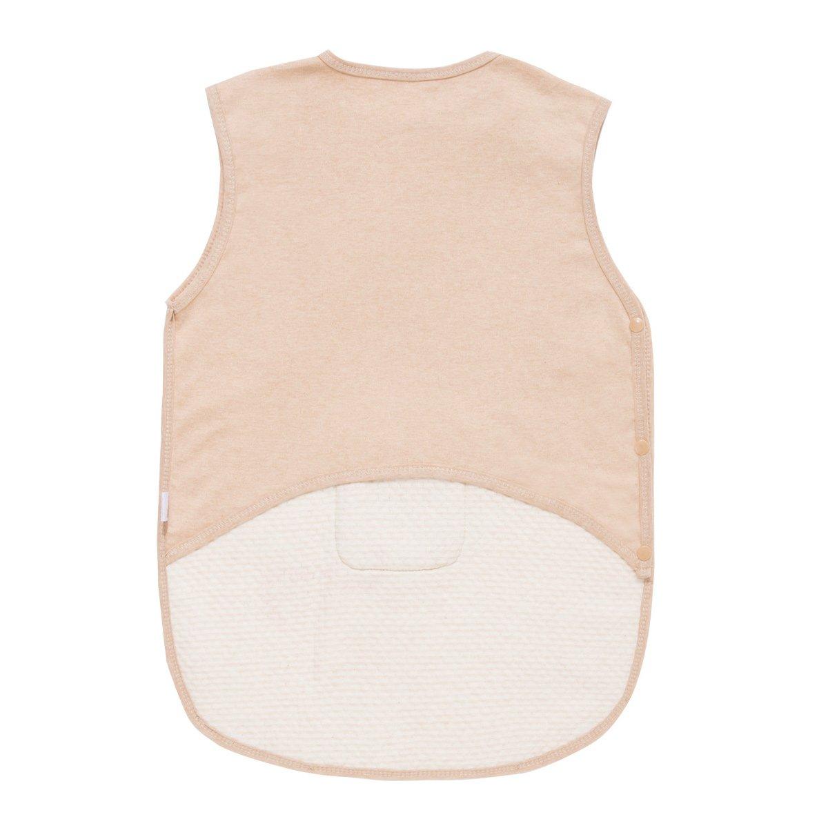 Feoya Unisex Babyschlafsack Sommer Schafsack /Ärmellos Kinderschlafsack Baumwolle Babydecke-Braun