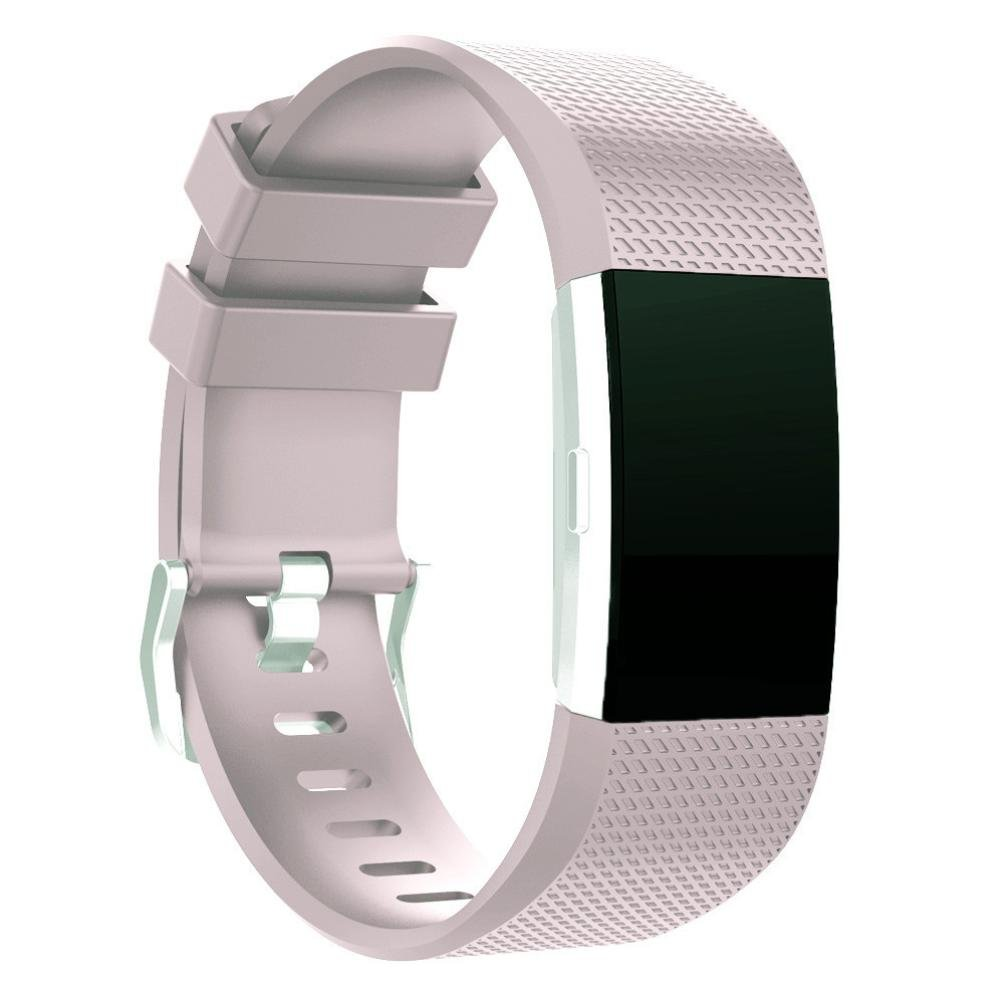 Dateworkシリコンブレスレットストラップバンドfor Fitbit Charge 2 ( 135 – 170 mm 20mm Band Length:about135230mm パープル  ライトパープル B06WGVTXMC