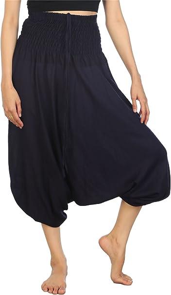Amazon.com: LOFBAZ Harem Pantalones de yoga para mujer Boho ...