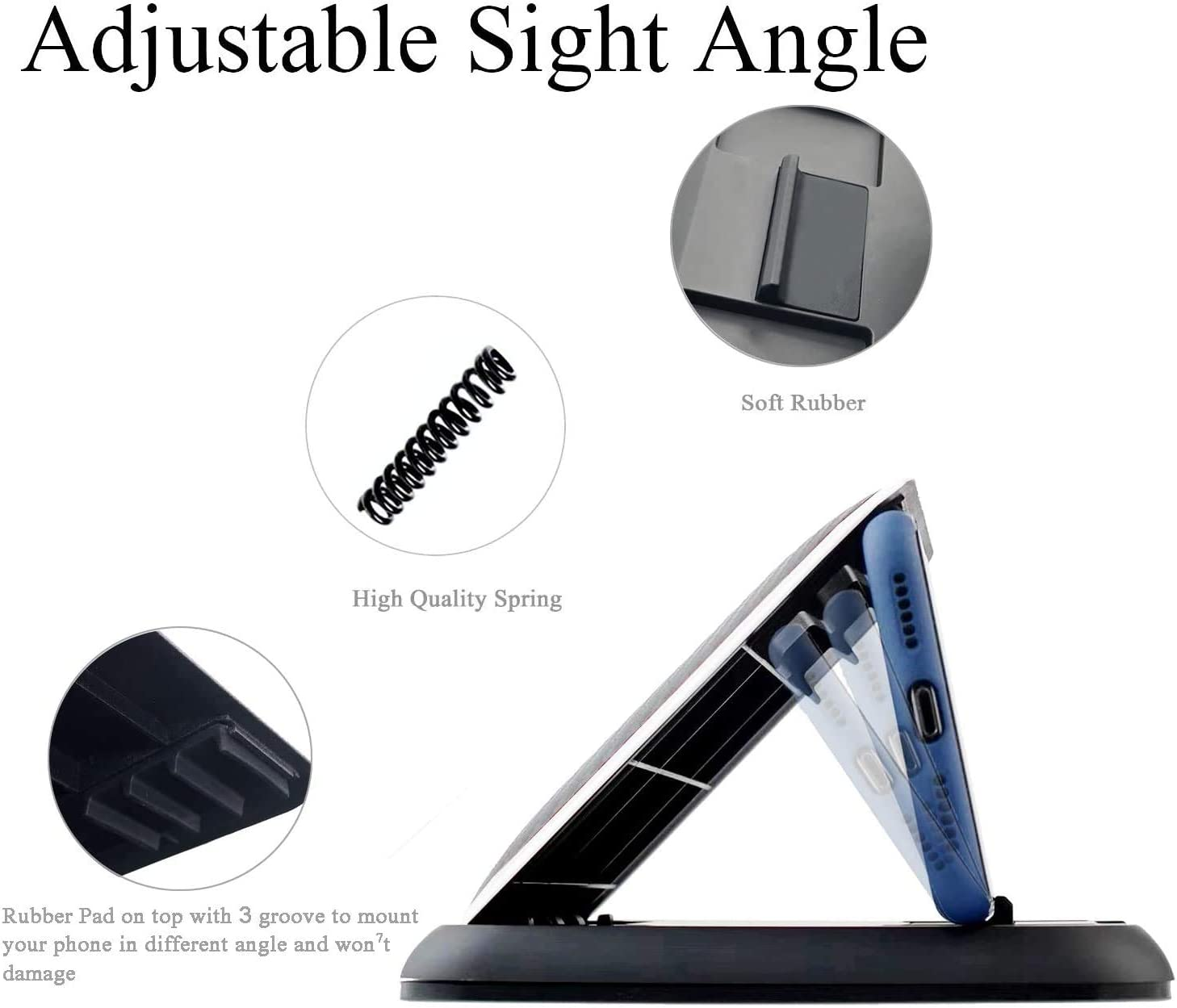 Vehicle GPS Mount Compatible with iPhone 12 11 XR//X Samsung Galaxy S20 Note 20 Smartphones MODESLAB Cell Phone Holder for Car Durable Silicone Pad Mat Car Phone Mount Dashboard GPS Holder for Car