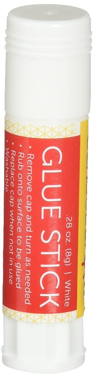 School Smart Glue Stick, 0.28 Ounces, White and Dries Clear, Pack of 30 School Specialty 1354157