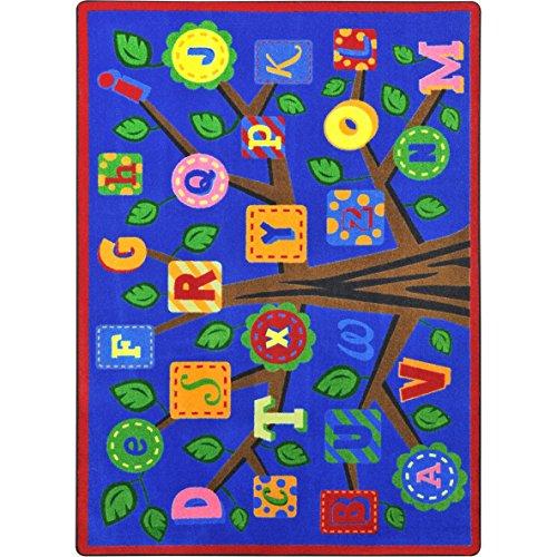 Joy Carpets 1892D-01 Alphabet Leaves Childrens Rugs, D, Bold (Rug Joy Carpets By)