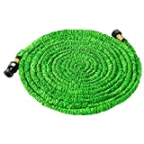 #8: Wingogh Expandable Garden Hose - 75ft Expanding Pressure Garden Water Hose, Brass Fitting & Triple Layer Latex Core & Latest Improved Extra Strength Fabric Protection (75 FT)