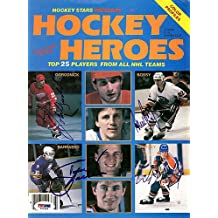 Wayne Gretzky Mike Bossy Tom Barrasso and John O'Grodnick Signed Magazine Cover - PSA/DNA Authentication - NHL Hockey Memorabilia
