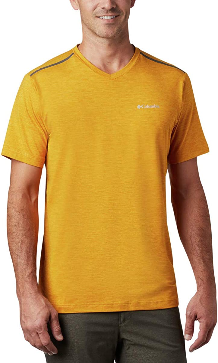 Columbia Men's Tech Trail II V Neck, Moisture-Wicking, UV Sun Protection : Clothing