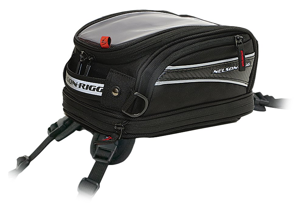 Nelson Rigg Strap Mount Motorcycle Bag (Black, Medium), 1 Pack CL-2014-ST