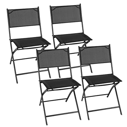 Amazon.com: Giantex, juego de 4 sillas plegables con ...