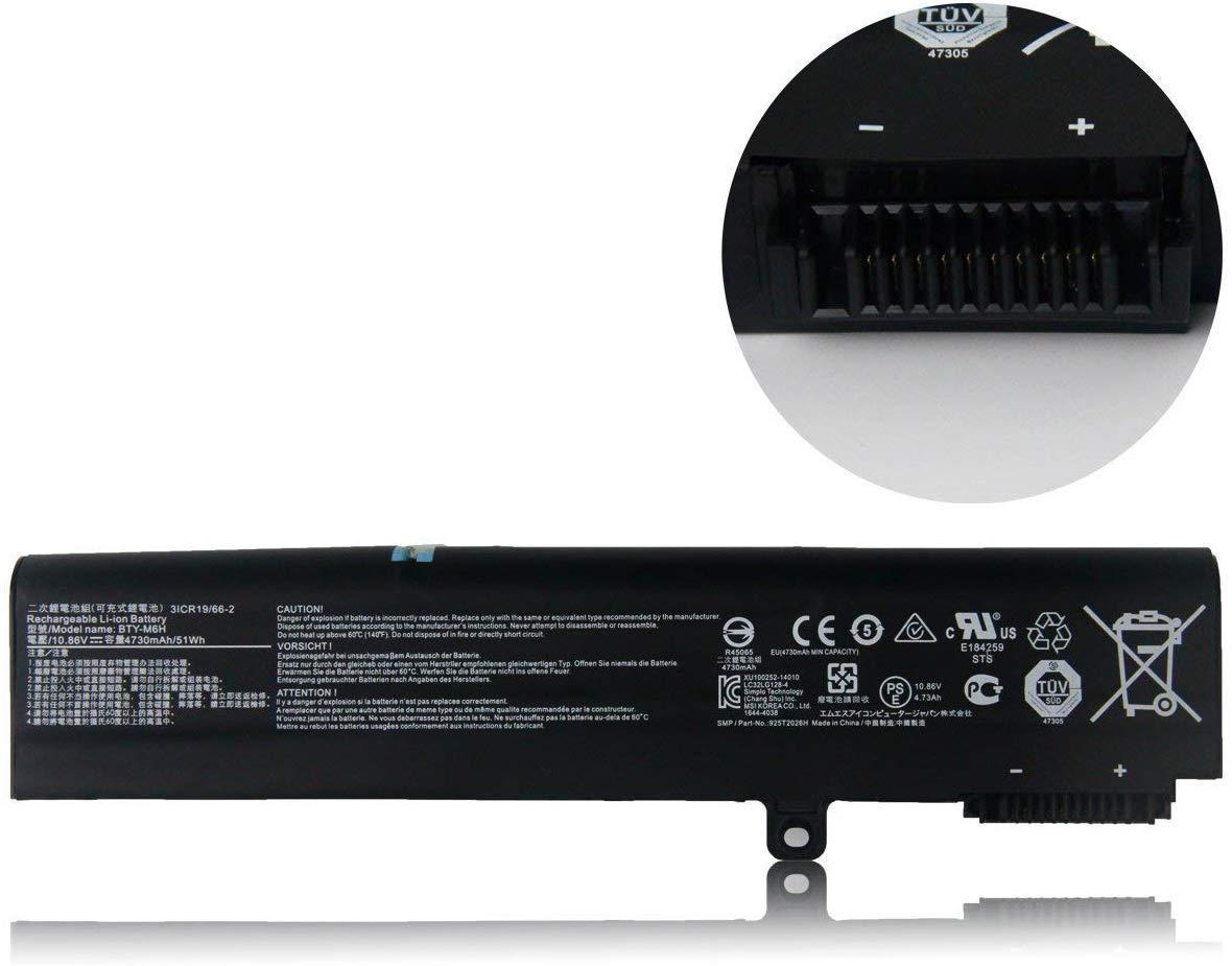 Bateria BTY-M6H MSI GP62 GE62 GE72 PL62 MS-16J1 MS-16J2 Seri