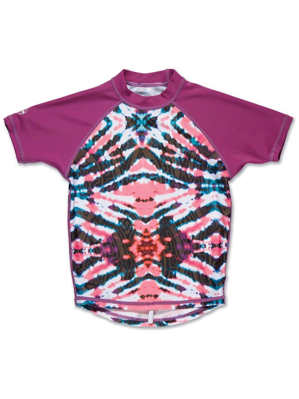 Dakine Girl's Classic Short Sleeve Rashguard Shirt, Watermelon Burst, 12