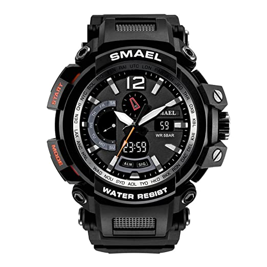 Cool Sport Relojes para hombres Black Tactical Digital Watch Water Resistant Outdoor Electronic: Amazon.es: Relojes