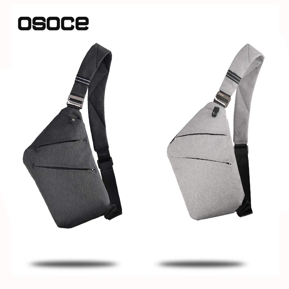 c9cd2051c328 OSOCE Anti-Theft Waterproof Shoulder Backpack Sling Chest Crossbody Bag  Cover Pack Rucksack Bicycle Sport