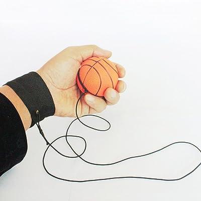 rebondissantes Bracelet Balle en caoutchouc, 1PC Retour éponge Balle en caoutchouc élastique sur corde enfant jouet d'activité pour adulte enfants doigt d'exercice Sport jouet