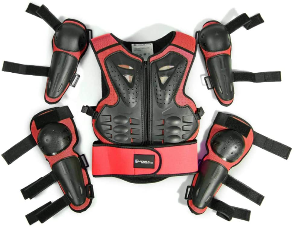 color negro Chaqueta de motocross para ni/ños para esqu/í patinaje