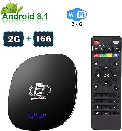 ESHOWEE Android TV Box 2G+16G A95X F1 2020 El más Nuevo Smart TV Box