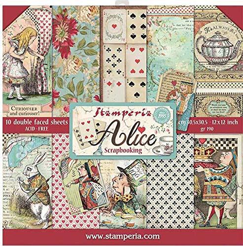 Stamperia Alice Scrapbooking Kit 30x30cm
