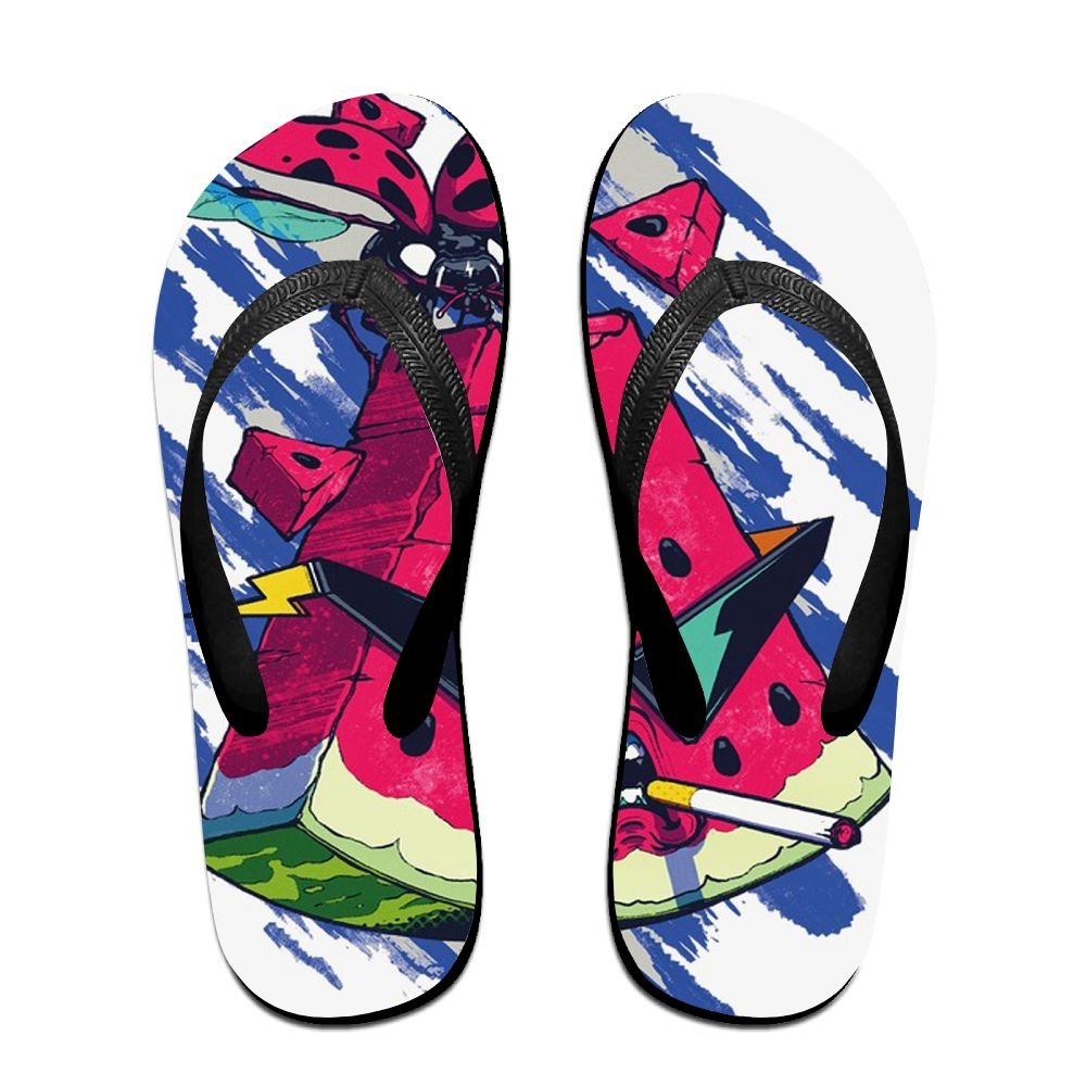 Tisky Unisex Original Thong Flip Flop Watermelon Hero Sunglasses Brother Fly