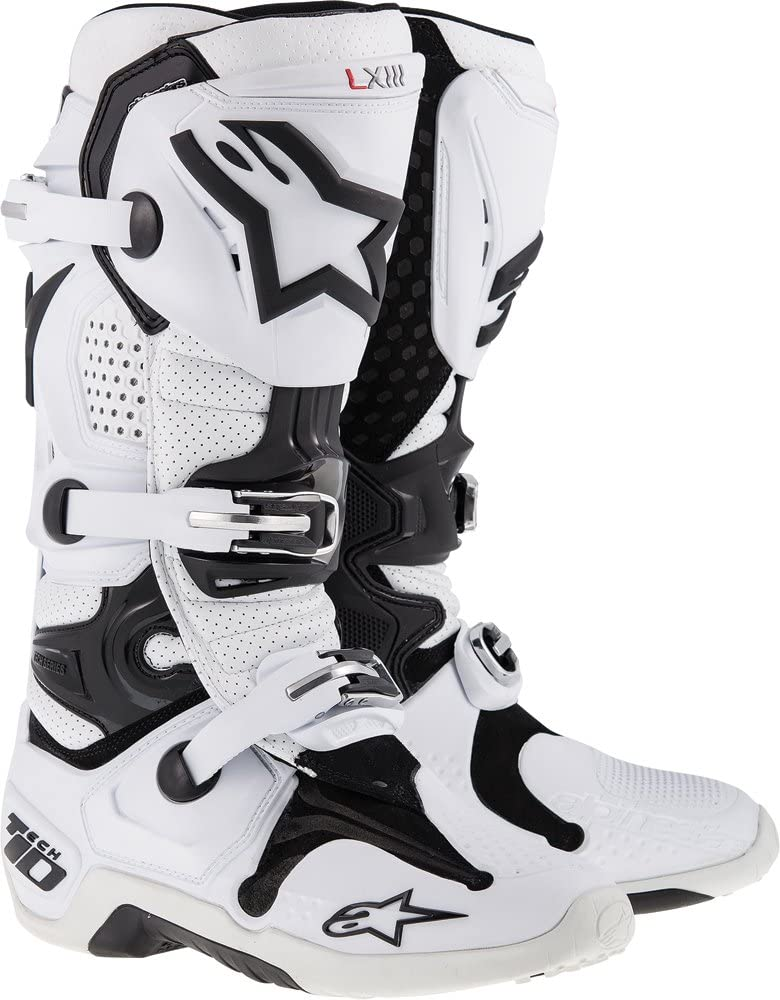 TECH 7 Off-Road Motocross Boot BLACK//SILVER//WHITE//GOLD 11